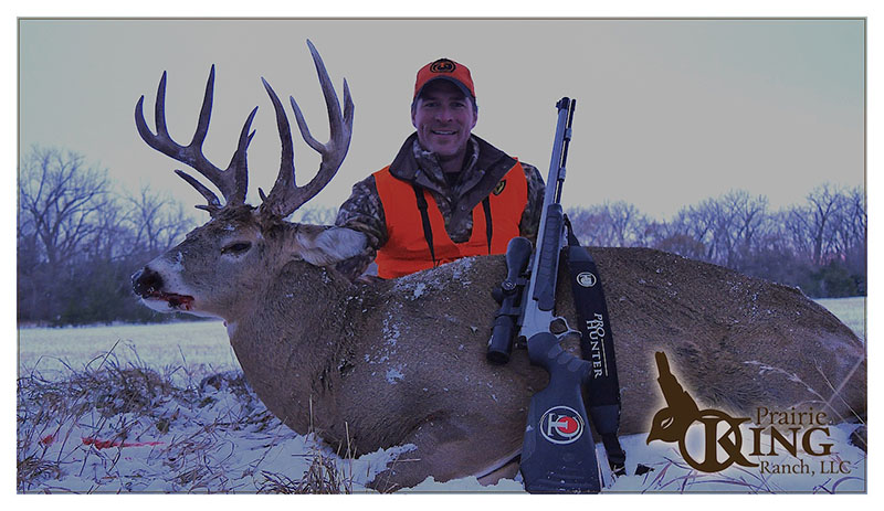 """James nicknamed this buck the """"Freak"""" for obvious reasons. The 2014 Nebraska muzzleloader season found the Freak in James' sights for the last time."""