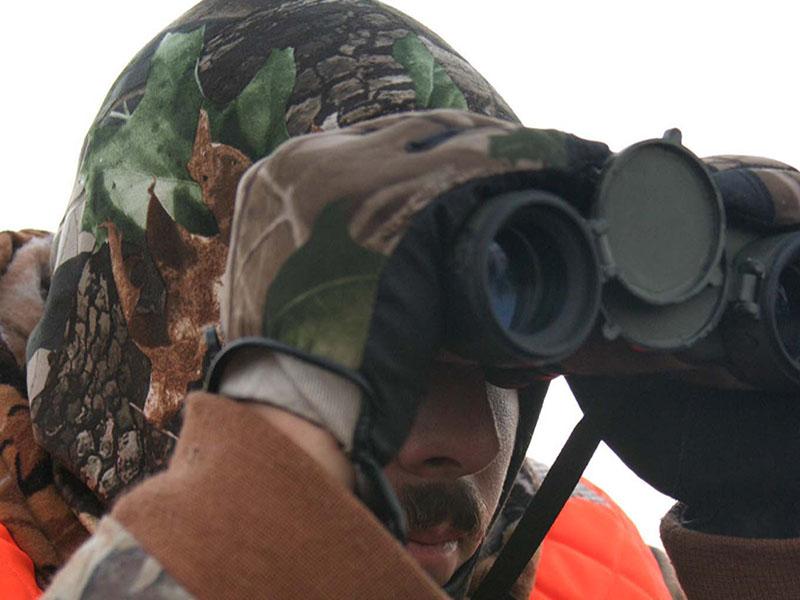 Hunter With Binocular