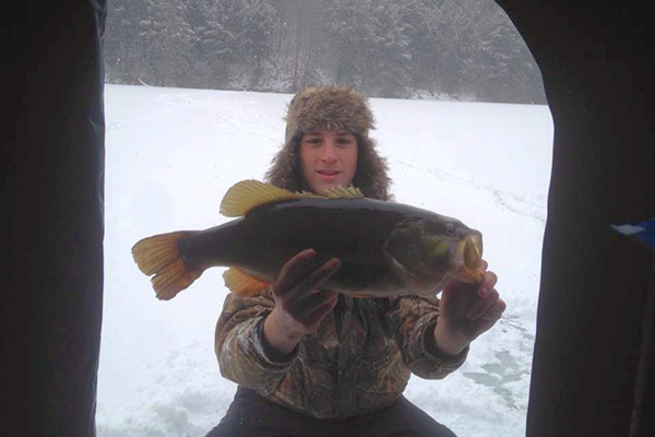 Brandon Covey ice fishing