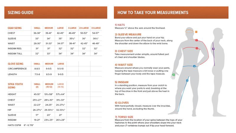 sitka-gear-sizing-chart