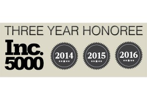 Three Years In A Row – Inc 5000 Fastest-Growing Company