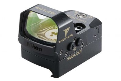New For 2018 – NIKON P-Tactical Spur 3 MOA Dot Reflex Sight