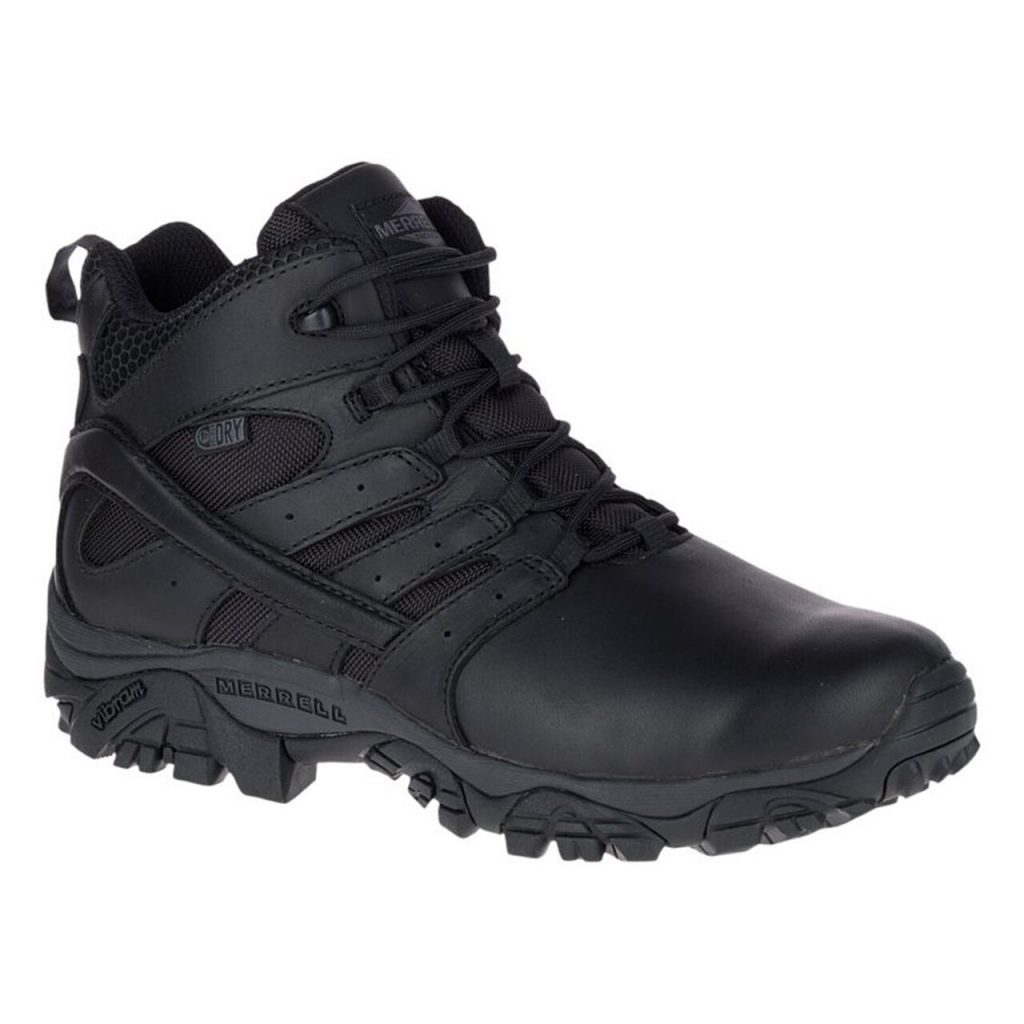 Mens Moab 2 Mid Response Waterproof Black Boot